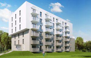 nowe nieruchomosci mieszkaniowe na Ruczaju w trakcie budowy