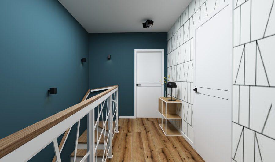 projekt wnętrza klatki schodowej - wyk. APP Proste Wnętrze Kraków