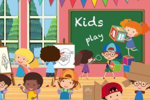 dzieci na kursie angielskiego